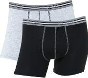 Sloggi , Men's  2 Pack Match Short Trunk, Grey