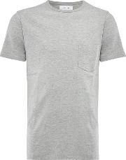 Soulland , Men's  Embroidered Logo Crew Neck T Shirt, Grey Marl