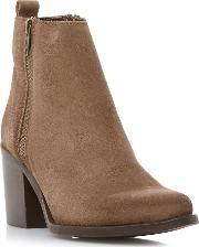 Steve Madden , Porta Side Zip Ankle Boots, Taupe