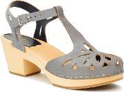 Swedish Hasbeens , Lacy Sandal Sandals, Dark Grey