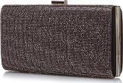 Yumi , Sparkle Clutch Bag, Charcoal