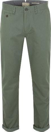 Racing Green , Men's  Bridge Flat Front Chinos, Beige