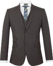 Racing Green , Men's  Barnes Puppytooth Tailored Jacket, Grey