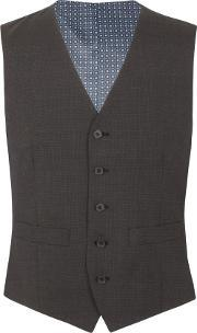 Racing Green , Men's  Barnes Puppytooth Tailored Waistcoat, Grey