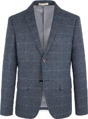 Racing Green , Men's  Martin Check Blazer, Blue