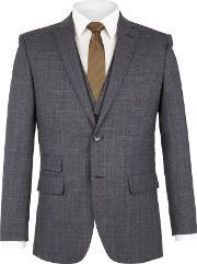 Racing Green , Men's  Pearce Check Jacket, Navy