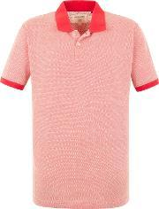 Racing Green , Men's  Roland Birdseye Piue Polo, Orange