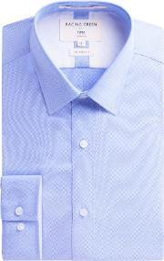 Racing Green , Men's  Victor Textured Weave Shirt, Light Blue