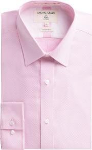 Racing Green , Men's  Victor Textured Weave Shirt, Pink