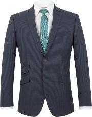 Racing Green , Men's  Ward Puppytooth Tailored Jacket, Navy