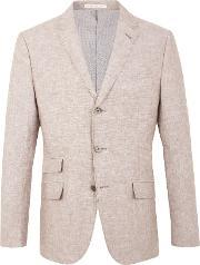 Racing Green , Men's  Farley Linen Blazer, Stone