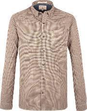 Racing Green , Men's  Pope Mini Check Long Sleeve Shirt, Wine