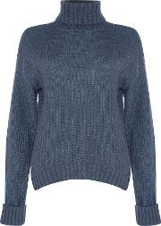 Alice & You , Knitted Roll Neck Jumper, Blue