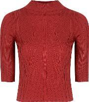 Alice & You , Short Sleeve Knitted Top, Red