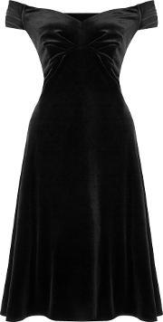 Ariella , Danna Off The Shoulder Velvet Dress, Black