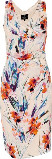 Ariella , V Neck Wrap Dress, Graphic Floral Print