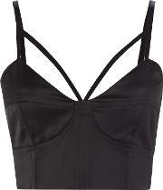 Bardot , Billie Sleeveless Crop, Black