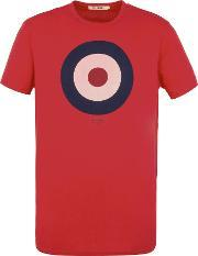 Ben Sherman , Men's  Target Tee, Red