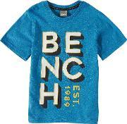 Bench , Boys  Brand Carrier T Shirt, Blue