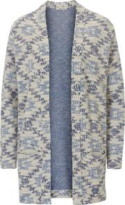 Betty Barclay , Long Textured Unlined Jacket, Blue