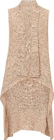 Betty & Co , . Long Knitted Gilet, Pink