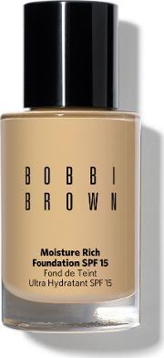 Bobbi Brown , Moisture Rich Foundation Spf 15, Warm Natural