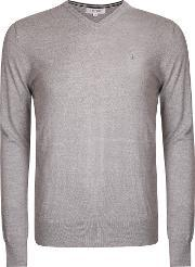 Calvin Klein Golf , Men's  Merino Sweater, Silver