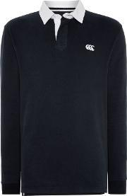 Canterbury , Men's  Long Sleeve Plain Rugby Shirt, Black