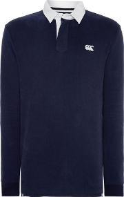 Canterbury , Men's  Long Sleeve Plain Rugby Shirt, Navy