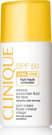 Clinique , Mineral Sunscreen Fluid For Face Spf50 30ml