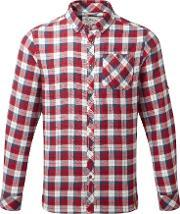 Craghoppers , Men's  Kearney Long Sleeved Checked Shirt, Red