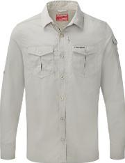 Craghoppers , Men's  Nosilife Advanced Long Sleeved Shirt, Off White