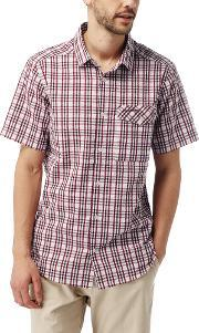 Craghoppers , Men's  Warby Short Sleeved Check Shirt, Jester