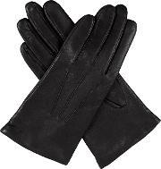 Dents , Ladies Classic Smooth Leather Gloves, Black