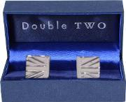 Double Two , Cufflinks, Metallic