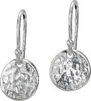 Dower & Hall , Nomad Silver 10mm Disk Earrings, Na