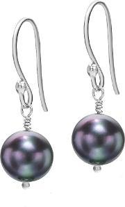 Dower & Hall , Silver Peacock Pearl Drop Earrings, Na
