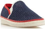 Dune , Falmouth Mesh Detail Espadrille Shoes, Navy