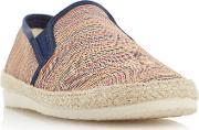 Dune , Fraser Island Striped Espadrille Shoes, Multi Coloured