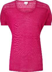 East , Pointelle Detail Top, Pink