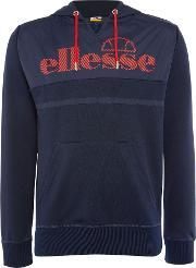 Ellesse , Men's  Contrast Panel Logo Hoody, Navy