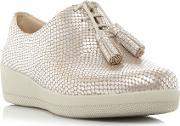 Fitflop , Classic Tassel Patent Oxford Shoes, Silver