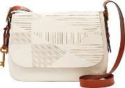 Fossil , Zb7172905 Ladies Crossbody Bag, White