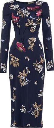 Frock And Frill , Arin Embellished Midi Shift Dress, Navy