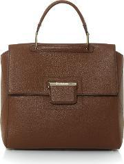 Furla , Artesia Flap Over Tote Bag, Brown