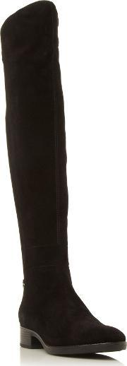 Geox , Felicity Elasticated Over The Knee Boots, Black Suede