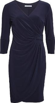 Gina Bacconi , Ps Jersey Dress With Sequin Insert, Navy