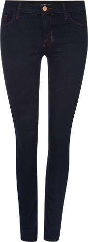 J Brand , 811 Mid Rise Skinny Jeans In Ink, Denim Rinse