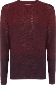 Jack & Jones , Men's  Cotton Dip Dye Jumper, Dark Red