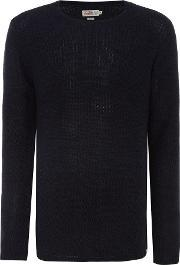 Jack & Jones , Men's  Cotton Dip Dye Jumper, Navy